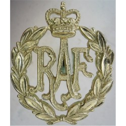 Women's Royal Air Force Small Size - Sew-On with Queen Elizabeth's Crown. Anodised Air Force Badge