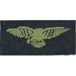 RAF Arm Eagle - FL On RAF Blue-Grey  Embroidered Air Force Badge