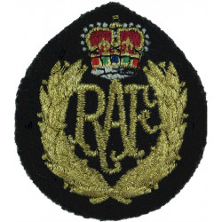 Royal Air Force No.1 Dress Airman Pattern with Queen Elizabeth's Crown. Lurex Air Force Badge