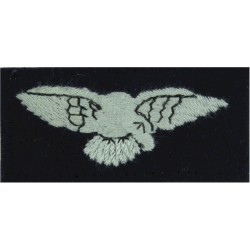 Oxford University Air Squadron RAFVR Flying Suit Crest Queen's Crown. Embroidered Flying Suit Crest