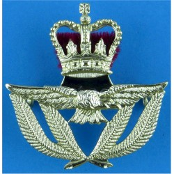 Royal Air Force Warrant Officer Beret Size with Queen Elizabeth's Crown. Anodised Air Force Badge