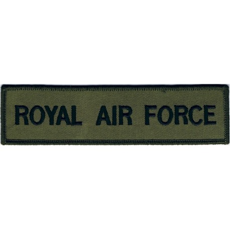 Royal Air Force - Words - Chest Title Black On Olive  Embroidered Air Force Badge