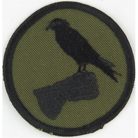 No.1 Air Control Centre Royal Air Force (Radar Unit) Black On Olive  Embroidered Air Force Badge
