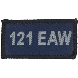 121 EAW (Expeditionary Air Wing - RAF Coningsby) Blue Rectangle  Woven Air Force Badge
