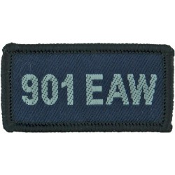 901 EAW (Expeditionary Air Wing - Al-Udeid: Qatar) Blue Rectangle  Woven Air Force Badge