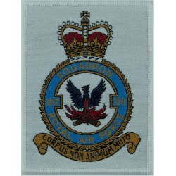 57 Squadron Royal Air Force (on White Rectangle) Hercules Sqn Lyneham with Queen Elizabeth's Crown. Woven Flying Suit Crest