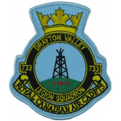 Royal Canadian Air Cadets: 733 Sqn: Drayton Valley Crest  Embroidered Flying Suit Crest