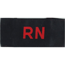 Royal Navy Armband Red RN On Navy Blue  Printed Arm-Band or Brassard