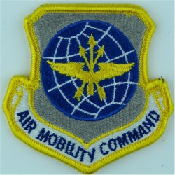 Air Mobilty Command - USAF Colour - On Velcro  Embroidered United States Air Force insignia