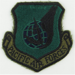 Pacific Air Forces - USAF (Green Shield) Subdued  Embroidered United States Air Force insignia
