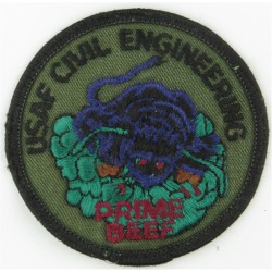 USAF Prime BEEF (Base Engineering Emergency Force) Subdued  Embroidered United States Air Force insignia