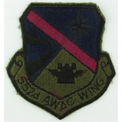 552d AWAC Wing - USAF Subdued  Embroidered United States Air Force insignia
