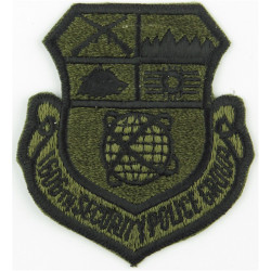 1606th Security Police Group - USAF Subdued  Embroidered United States Air Force insignia