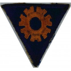 Sergeant's Rank Stripes On Dark Blue Post-72 Embroidered Air Force Rank Badge