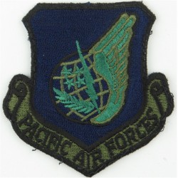 Pacific Air Forces - USAF (Dark Blue Shield) Subdued  Embroidered United States Air Force insignia