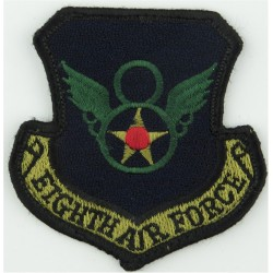 Eighth Air Force - USAF Subdued  Embroidered United States Air Force insignia