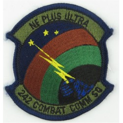242 Combat Communications Squadron - USAF Subdued  Embroidered United States Air Force insignia