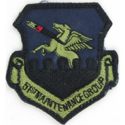 51st Maintenance Group Group - USAF Subdued  Embroidered United States Air Force insignia