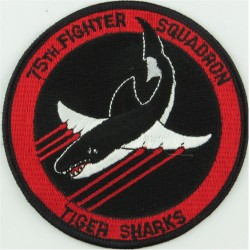 75th Fighter Squadron - USAF (Tiger Sharks) Colour  Embroidered United States Air Force insignia