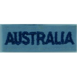 Australia - Slip-On Shoulder Title Blue On RAAF Blue  Embroidered Foreign Air Force insignia