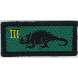 King's Regiment - 72mm Square Green/Blue/Maroon Woven Regimental cloth arm badge