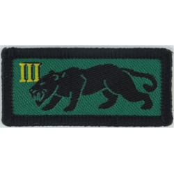 Royal Logistic Corps: 3 Close Support Regiment 32 Sqn - Panther  Woven Regimental cloth arm badge