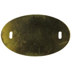 Back-Plate For Trade Badge Or Cap Badge Random Larger Size  Brass