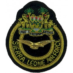 Republic Of Sierra Leone Armed Forces Air Wing Officers - Small  Bullion wire-embroidered Foreign Air Force insignia