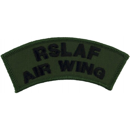 Republic Of Sierra Leone Air Wing - Shoulder Title Black On Olive Green  Embroidered Foreign Air Force insignia