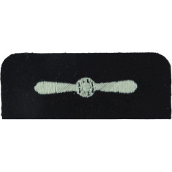 Royal Auxiliary Air Force Leading Aircraftman DPM Rank Slide Embroidered Air Force Rank Badge