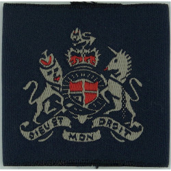 Warrant Officer Royal Air Force - Pre-2004 Slip-On Rank Badge with Queen Elizabeth's Crown. Woven Air Force Rank Badge