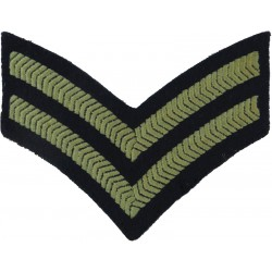 Senior Aircraftman Technician (Propeller In Circle) Slip-On Black /Olive Embroidered Air Force Rank Badge
