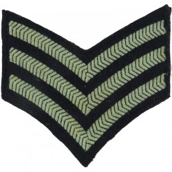 TCW Senior Aircraftman Technician (Prop In Circle) Slip-On Black /Olive Embroidered Air Force Rank Badge