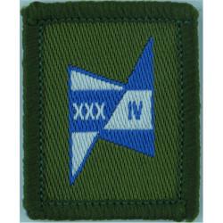 Royal Signals: 34 Sig Regt (XXXIV Blue/White Zig-Zag Introduced April 98  Woven Regimental cloth arm badge