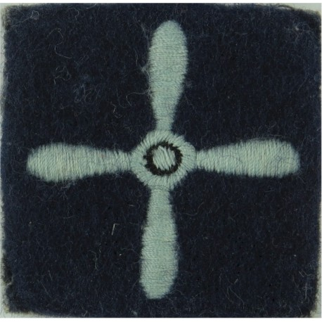 Air Training Corps Leading Cadet (4-Bladed Propeller On Dark-Blue Post-72  Embroidered Air Force Rank Badge