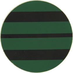NBC Suit Rank Sticker - Squadron Leader Black On Green  Vinyl Air Force Rank Badge
