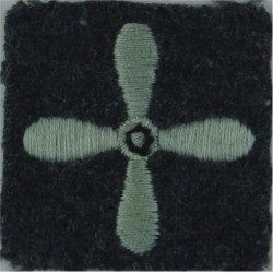 Air Training Corps Leading Cadet (4-Bladed Propeller On Blue-Grey Square  Embroidered Air Force Rank Badge