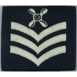 RAF Chief Technician (4-Blade Propeller / 3 Stripes) Slip-On Rank Badge  Woven Air Force Rank Badge
