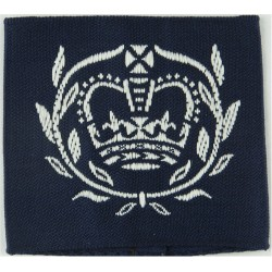 ATC Cadet Warrant Officer (Crown In Wreath) Slip-On Rank Badge with Queen Elizabeth's Crown. Woven Air Force Rank Badge
