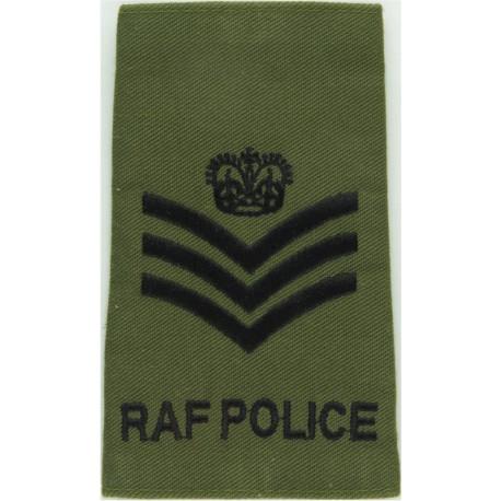 VR (RAF Volunteer Reserve) On Old Dark Blue Embroidered Air Force Branch Badge