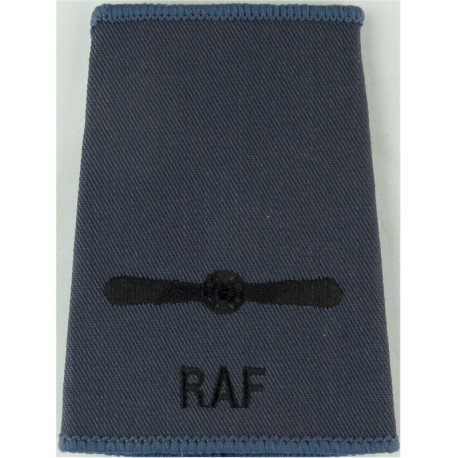 Royal Air Force Police Auxiliaries Shoulder Title Blue On Sand Post-72  Woven Air Force Branch Badge