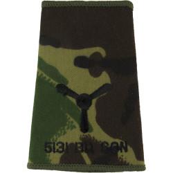 5131 Bomb Disposal Sqn Senior Aircraftman Rank Slide Black On Camouflage  Embroidered Air Force Rank Badge