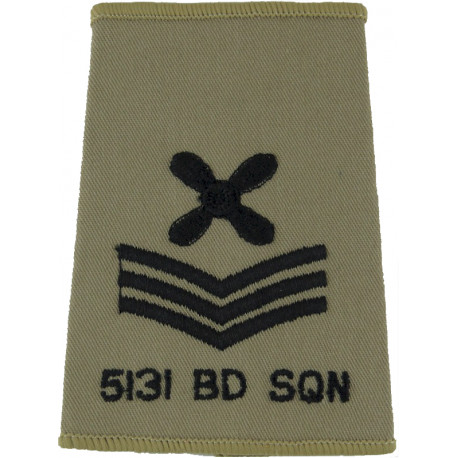 RAF Brevet - FC (Fighter Controller) Half-Wing Padded  Embroidered Air Force Branch Badge