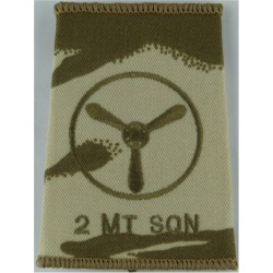 2 MT Sqn Senior Aircraftman Technician (Prop In Circ Desert Camo Slip-On  Embroidered Air Force Rank Badge