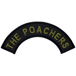 The Poachers - Title - 2nd Bn Royal Anglian Regiment Yellow On Black  Embroidered Regimental cloth arm badge