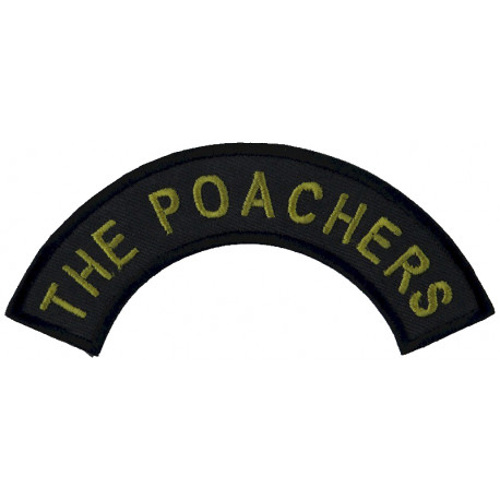 Royal Engineers: 21 Regiment: 7 (HQ) Squadron Black Horse On Olive  Woven Regimental cloth arm badge