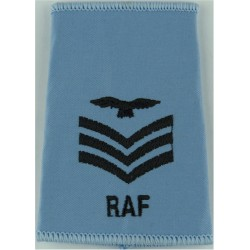 RAF Band - Lyre & Crown - Large - Bandmaster - Rare Gold On Dark Blue Queen's Crown. Bullion wire-embroidered Air Force Branch B