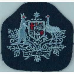 RAF Regiment - Curved Shoulder Title On Older Dark Blue Embroidered Air Force Branch Badge