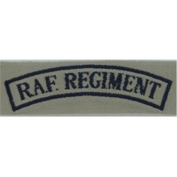 RAuxAF Regiment Epaulette Slide Black On RAF Blue  Embroidered Air Force Branch Badge