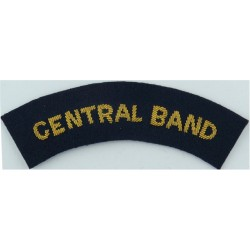 RAF Band - Central Band Shoulder Title Bullion On Dark Blue  Bullion wire-embroidered Air Force Branch Badge